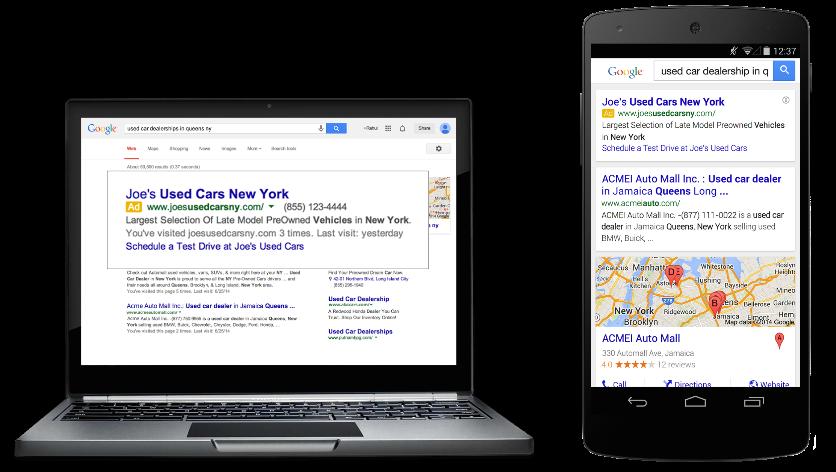 Google AdWords Mobil Reklamlar